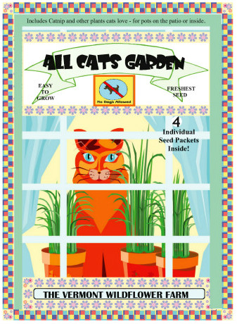 All Cats Garden Jumbo Seed Packet