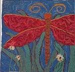 Dragonfly by Sharon Smith - Rug Wool Only