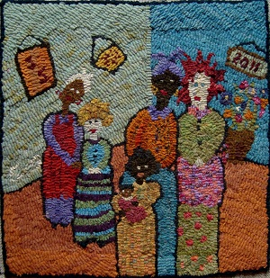 Friends Pillow by Sharon Smith-Pattern Only or Complete Rug Hooking Kit