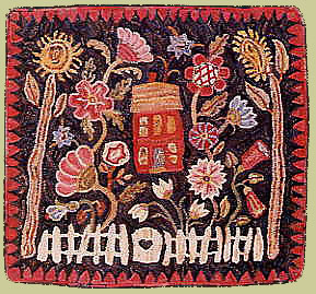 A Towne Garden by Karen Kahle-Pattern Only or Complete Rug Hooking Kit