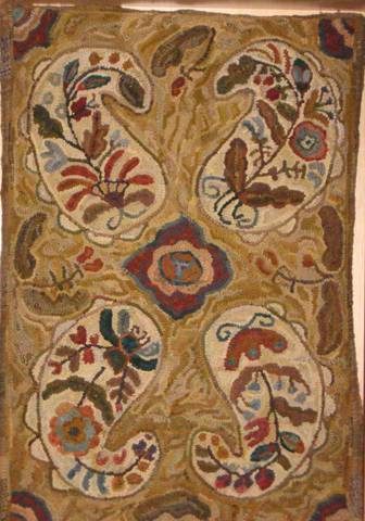 Paisley Primitive by Marijo Taylor-Pattern Only or Complete Rug Hooking Kit