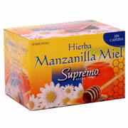 Te Hierba Manzanilla Miel  (Camomile with Honey) - Supremo 20g (20 Bolsitas)