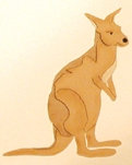 Layered kangaroo scrapbook cut out