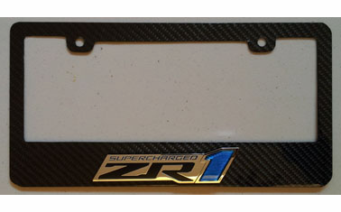 Carbon Fiber License Plate Frame for C6 ZR1, Z06 and GrandSport Corvette