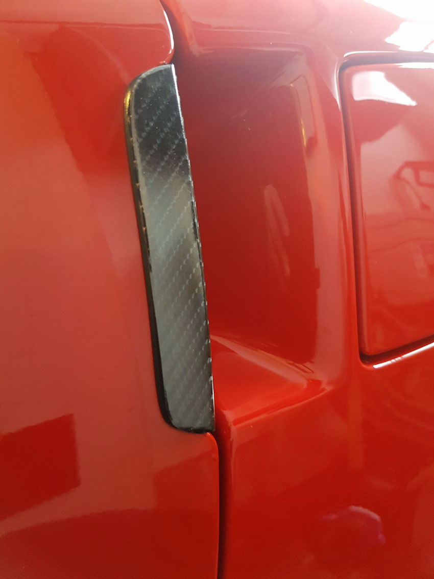 C6 Simulated Carbon Fiber Door Handle Overlay