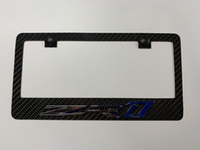 C7 ZR1 Carbon Fiber License Plate Ftame