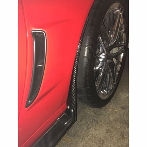 Carbon Fiber Rear Deflector Overlay For C6 ZR1