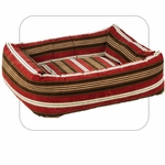 "Bowsers-""Bowser Stripe"" -  Microvelvet Dutchie Dog Bed"