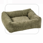 """Bowsers-""""Paisley Taupe"""" -  Microvelvet Dutchie Dog Bed"""