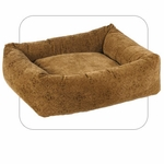 "Bowsers-""Pecan Filigree"" -  Microvelvet Dutchie Dog Bed"