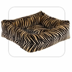 "Bowsers-""Safari"" -  Microvelvet Dutchie Dog Bed"