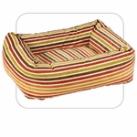 "Bowsers-""Salsa Stripe"" -  Microvelvet Dutchie Dog Bed"
