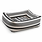 "Bowsers-""Tuxedo Stripe"" -  Microvelvet Dutchie Dog Bed"