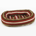 Bowsers Microvelvet Donut Dog Bed-Bowser Stripe