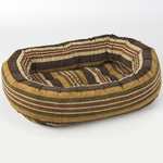 Bowsers Microvelvet Donut Dog Bed-Canyon Stripe