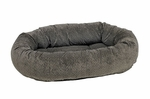 Bowsers Donut Dog Bed-Pewter Bones