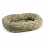 Bowsers Microvelvet Donut Dog Bed-Seaside Stripe