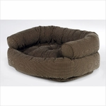 Bowsers Double Donut Dog Bed-Houndstooth