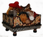 """Perfectly Paisley Dog Toy Box - As seen in """"JEZEBEL"""" Magazine Nov-Dec 2010 Addition!"""