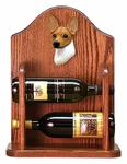 Toy Fox Terrier Wine Rack -Red/White