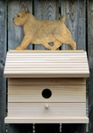 Norwich Terrier Bird House-Grizzle