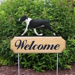 Am. Staffordshire Terrier (natural) DIG Welcome Stake-Black/White