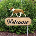 Am. Staffordshire Terrier (natural) DIG Welcome Stake-Red/White