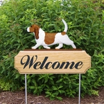Basset Hound DIG Welcome Stake-Red/White
