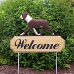Boston Terrier DIG Welcome Stake-Red