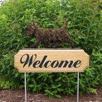 Cairn Terrier DIG Welcome Stake-Black Brindle