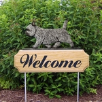 Cairn Terrier DIG Welcome Stake-Light Grey
