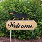 Dachshund (smooth) DIG Welcome Stake-Black & Tan