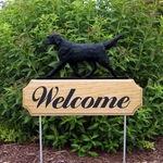 Flat Coated Retriever DIG Welcome Stake-Black