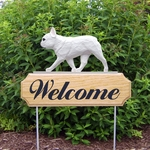 French Bulldog DIG Welcome Stake-White