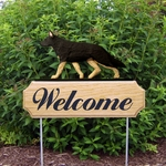 German Shepherd DIG Welcome Stake-Black w/ Tan Points