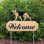German Shepherd DIG Welcome Stake-Tan w/ Black Saddle