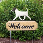 Jack Russell Terrier DIG Welcome Stake-Black/White