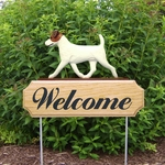 Jack Russell Terrier DIG Welcome Stake-Brown/White