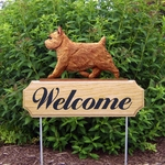 Norwich Terrier DIG Welcome Stake-Red