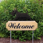 Scottish Terrier DIG Welcome Stake-Black