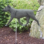 Am. Staffordshire Terrier (natural) Garden Stake-Blue