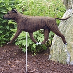 Am. Staffordshire Terrier (natural) Garden Stake-Brindle
