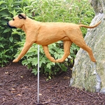 Am. Staffordshire Terrier (natural) Garden Stake-Fawn