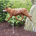 Australian Cattle Dog Garden Stake-Red