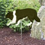 Border Collie Garden Stake-Black