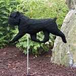 Brussels Griffon (natural)Garden Stake-Black