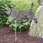 CairnTerrier Garden Stake-Light Grey