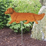 Dachshund (long hair) Garden Stake-Red