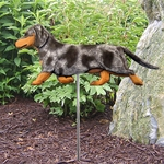 Dachshund (smooth) Garden Stake-Blue Dapple