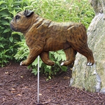English Bulldog Garden Stake-Brindle